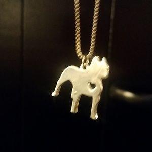 Dog pendant necklace